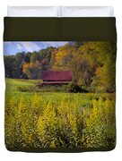 In The Heart Of Autumn Duvet Cover by Debra and Dave Vanderlaan