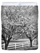 In The Park Duvet Cover by Debra and Dave Vanderlaan