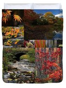 Incredible New England Fall Foliage Photography Duvet Cover by Juergen Roth