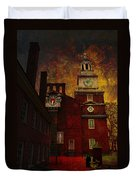 Independence Hall Philadelphia Let Freedom Ring Duvet Cover by Jeff Burgess