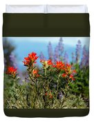 Indian Paintbrush Duvet Cover by Robert Bales