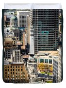 Indianapolis Aerial Picture Of Monument Circle Duvet Cover by Paul Velgos