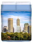 Indianapolis Skyline Picture Duvet Cover by Paul Velgos