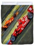 Indy Car's Tony Kanaan Duvet Cover by Blake Richards