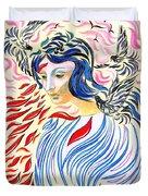 Inner Peace Duvet Cover by Jane Small