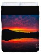 Inside Passage Sunrise Duvet Cover by Robert Bales