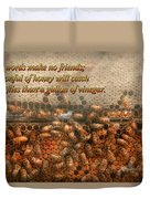 Inspiration - Apiary - Bee's - Sweet Success - Ben Franklin Duvet Cover by Mike Savad