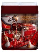 Inspiration - Truck - Waiting For A Call Duvet Cover by Mike Savad