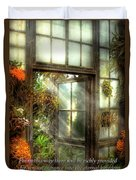 Inspirational - The Door To Paradise - Peter 1-11 Duvet Cover by Mike Savad