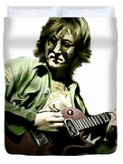 Instant Karma  John Lennon Duvet Cover by Iconic Images Art Gallery David Pucciarelli
