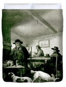Interior Of A Country Inn Duvet Cover by George Morland