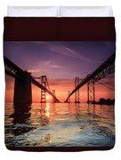 Into Sunrise - Bay Bridge Duvet Cover by Jennifer Casey
