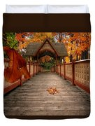 Into The Autumn Duvet Cover by Lourry Legarde
