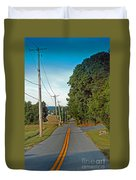 Into Town Duvet Cover by Skip Willits