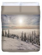 Inversion Sunset Duvet Cover by Aaron Aldrich