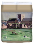Iona Abbey From The Northwest Duvet Cover by Francis Campbell Boileau Cadell