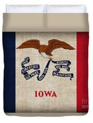Iowa State Flag Duvet Cover by Pixel Chimp