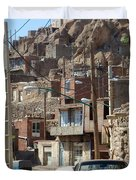 Iran Kandovan Cars And Wires Duvet Cover by Lois Ivancin Tavaf