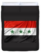 Iraq Flag Duvet Cover by Les Cunliffe