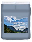 Iridescent Clouds Above Ouray Colorado Duvet Cover by Janice Rae Pariza