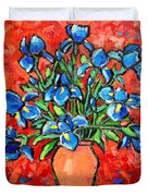Iris Bouquet Duvet Cover by Ana Maria Edulescu