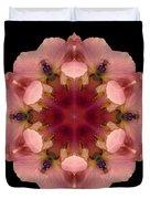 Iris Germanica Flower Mandala Duvet Cover by David J Bookbinder