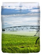 Irrigation on Saskatchewan farm Duvet Cover by Elena Elisseeva
