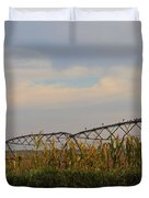 Irrigation On The Farm Duvet Cover by Dan Sproul