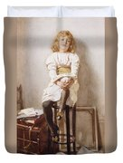 Is It Time Duvet Cover by John Henry Henshall