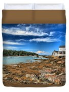 Isle Au Haut House Duvet Cover by Adam Jewell