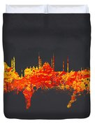 Istanbul Turkey Duvet Cover by Aged Pixel