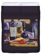 Italian Kitchen Duvet Cover by Donna Tuten