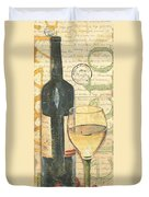 Italian Wine And Grapes 1 Duvet Cover by Debbie DeWitt