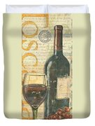 Italian Wine And Grapes Duvet Cover by Debbie DeWitt