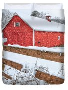 It's Snowing Square Duvet Cover by Bill  Wakeley