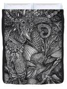 Jabberwockie Duvet Cover by Otto Rapp
