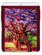 Jacaranda Lane Duvet Cover by Michael Durst