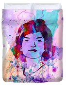 Jackie Kennedy Watercolor Duvet Cover by Naxart Studio