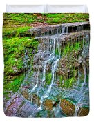 Jackson Falls At Mile 405 Natchez Trace Parkway-tennessee Duvet Cover by Ruth Hager
