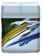 Jaguar Car Hood Ornament Duvet Cover by Jill Reger