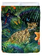 Jaguar Meadow Duvet Cover by Alixandra Mullins