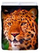 Jaguar Duvet Cover by Michael Pickett
