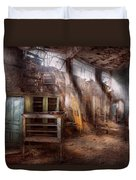 Jail - Eastern State Penitentiary - Sick Bay Duvet Cover by Mike Savad