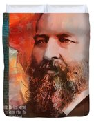 James A. Garfield Duvet Cover by Corporate Art Task Force