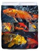 Japanese Koi Duvet Cover by Kaye Menner