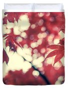 Japanese Maple Collage Duvet Cover by Hannes Cmarits