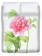 Japanese Tree Peony Duvet Cover by Pierre Joseph Redoute