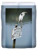 Japanese Waterfowl - Kyoto Japan Duvet Cover by Daniel Hagerman