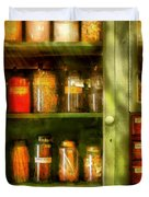 Jars - Ingredients II Duvet Cover by Mike Savad