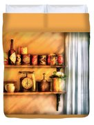Jars - Kitchen Shelves Duvet Cover by Mike Savad